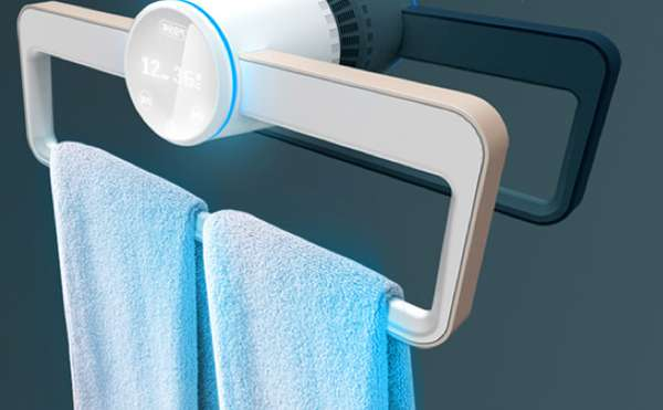 Dry and clean a concept towel dryer by puredesign