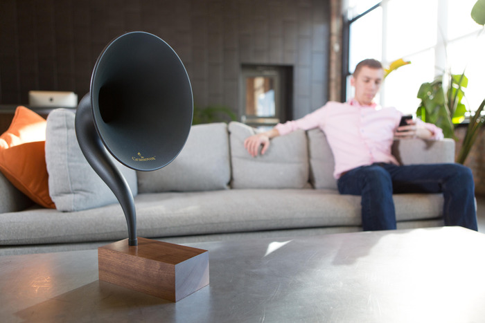 The Gramovox Bluetooth gramophone speaker