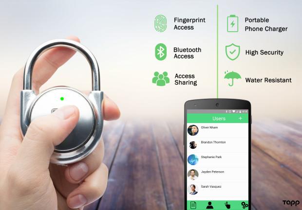 Tapp: Cutting Edge Smart Fingerprint Padlocks