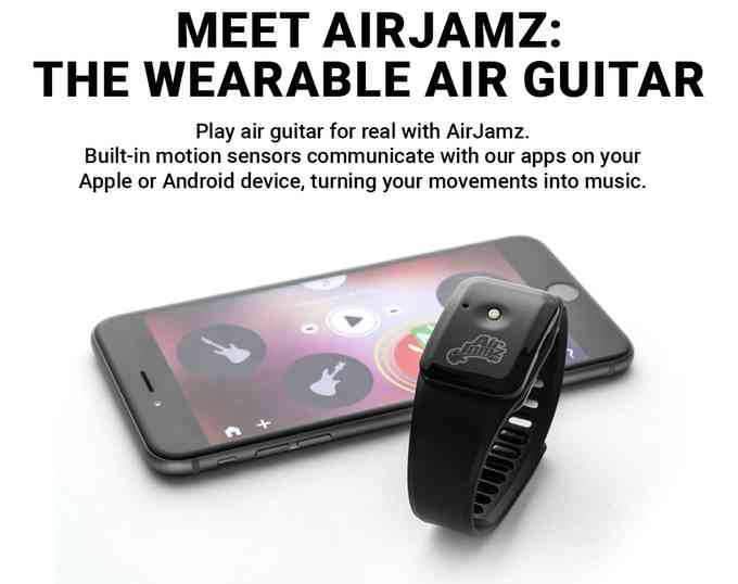 Airjamz: the Wearable Air Guitar