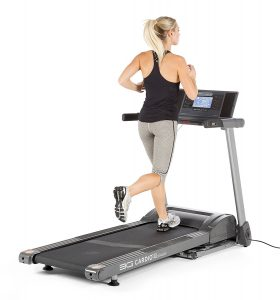 compact folding treadmill under bed