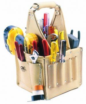 custom leathercraft 526 electrician tool bag