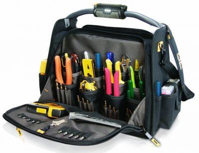 custom leathercraft l245 electrician tool bag