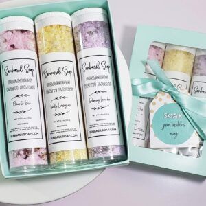 gift boxes for womens birthday Bathing Salts Gift Set