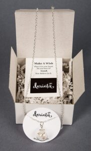 Dainty Dandelion necklace - gift boxes for womens birthday