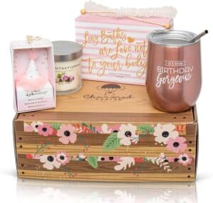 gift boxes for womens birthday Rose Gold Happy Birthday Set