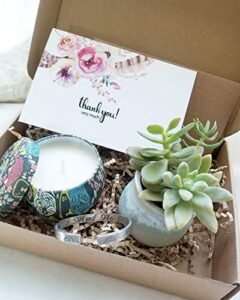 Thank you Gift Box with Succulent Plant